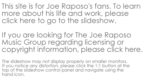 Info about Joe Raposo site